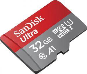 SanDisk Ultra 32GB microSDHC Speicherkarte + Adapter bis zu 98 MB/Sek., Class 10, U1, A1