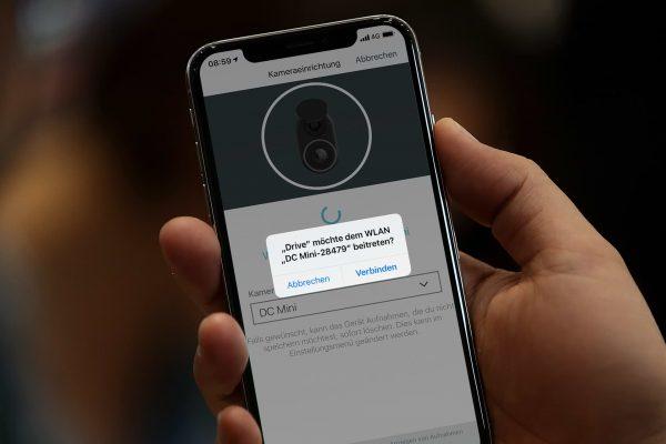 Einfache Dashcam-Verbindung per Bluetooth und Wifi